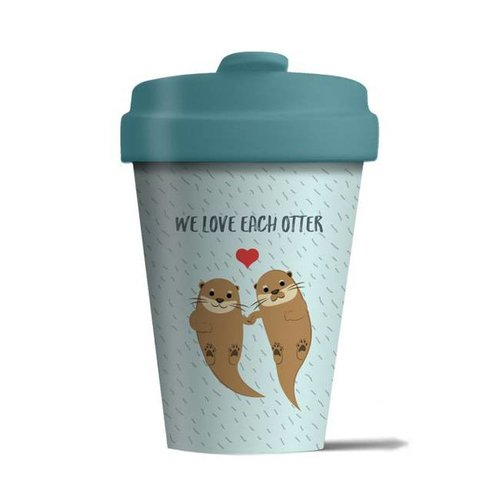 Chic mic - bamboo cup - we love each otter