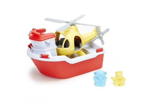 Green Toys Green Toys - reddingsboot met helicopter