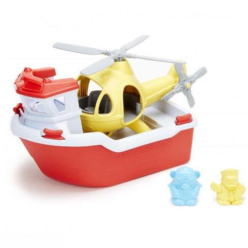 Green Toys - reddingsboot met helicopter