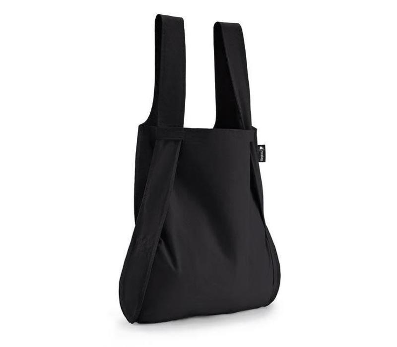 Notabag - opvouwrugtas - zwart