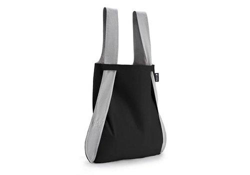Notabag Notabag - opvouwrugtas - grijs/zwart