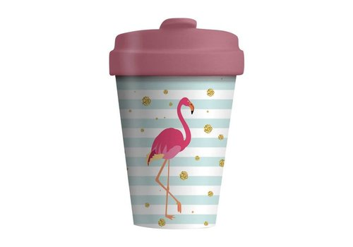 Chic mic Chic mic - bamboo cup - flamingo
