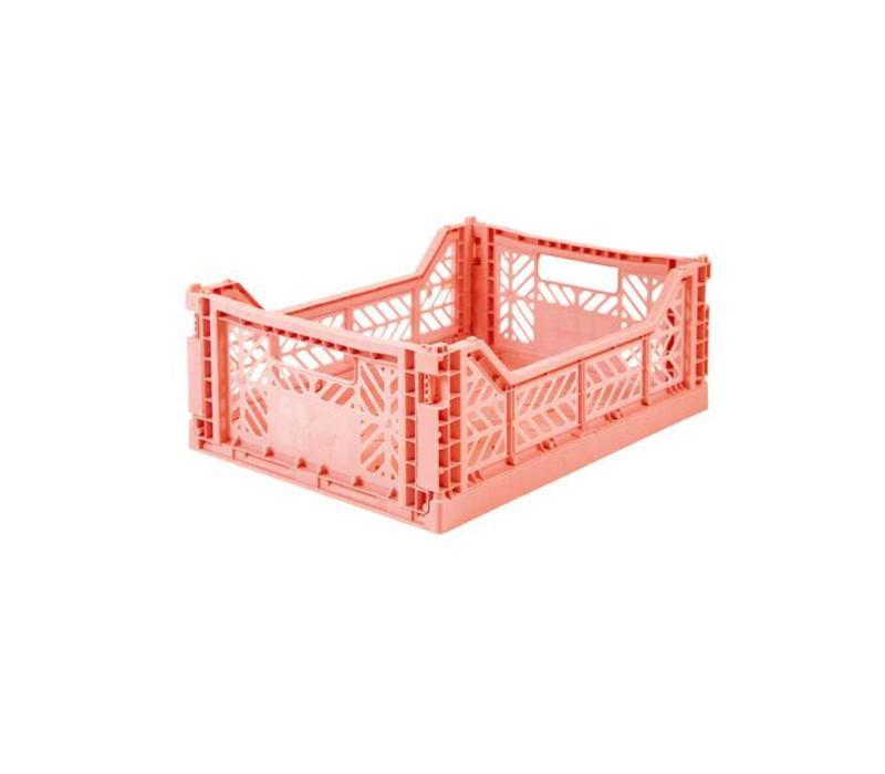 Lillemor lifestyle - opvouwkrat midi - salmon pink