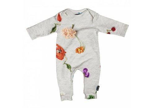 Snurk Snurk - baby jumpsuit - knitted flowers