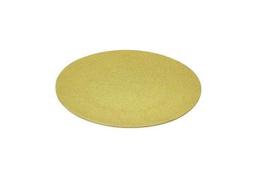 Zuperzozial Zuperzozial - bamboe dinerbord - lemony yellow