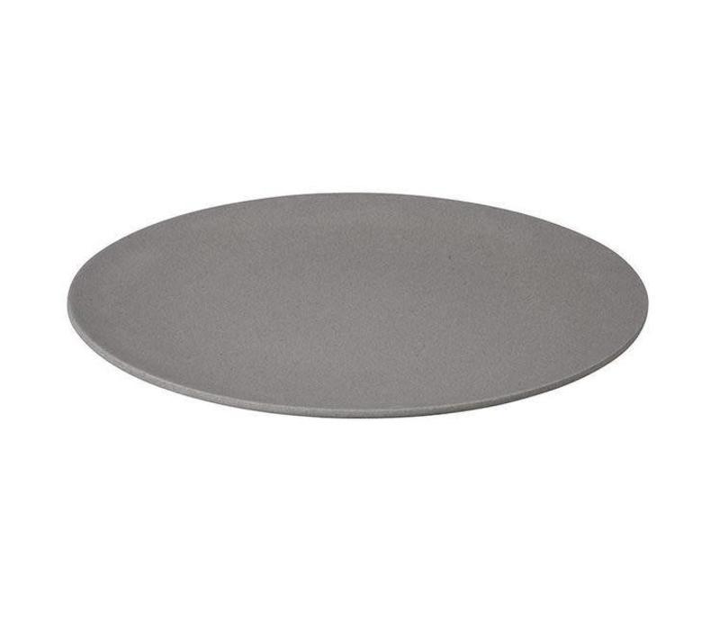 Zuperzozial - bamboe dinerbord - stone grey
