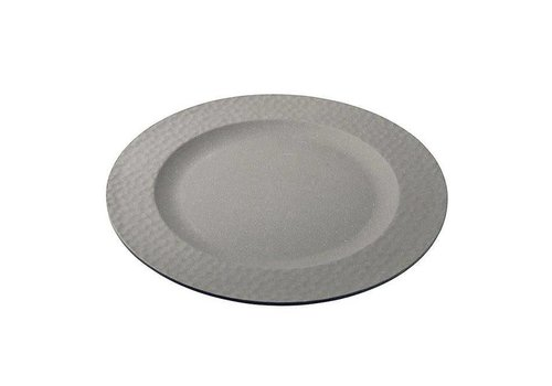 Zuperzozial Zuperzozial - bamboe dinerbord hammered - stone grey
