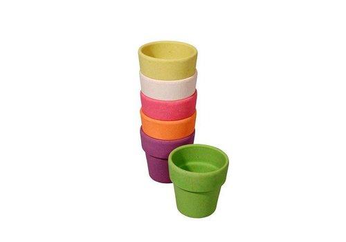 Zuperzozial Zuperzozial - bamboe eierdopjes - rainbow (set van 6)