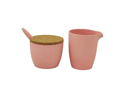 Zuperzozial Zuperzozial - bamboe melk & suiker set - lollipop pink