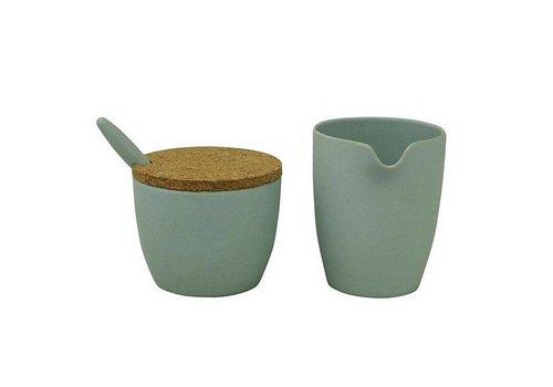 Zuperzozial Zuperzozial - bamboe melk & suiker set - powder blue