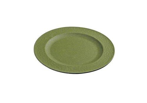 Zuperzozial Zuperzozial - bamboe ontbijtbord hammered - moss green
