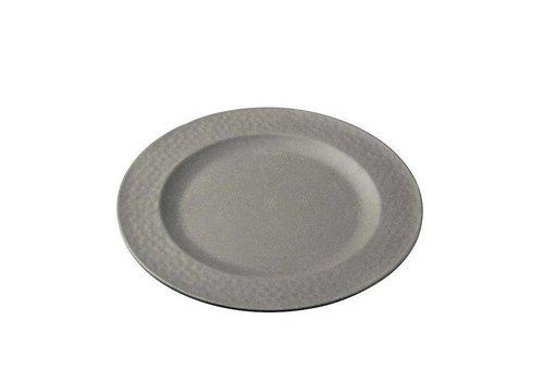 Zuperzozial Zuperzozial - bamboe ontbijtbord hammered - stone grey