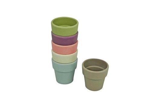Zuperzozial Zuperzozial – bamboe eierdopjes - pastel (set van 6)