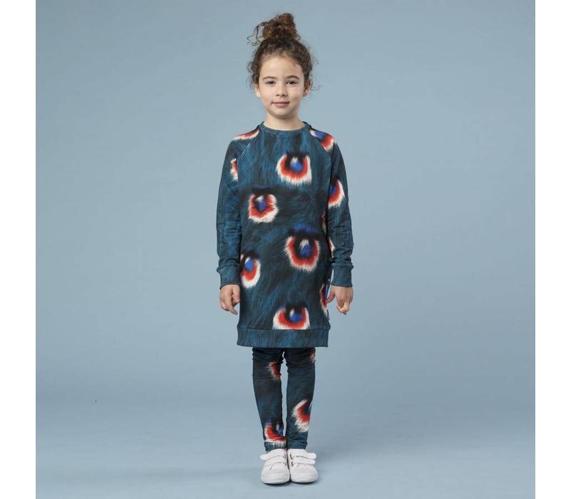 Snurk - kids legging - peacock