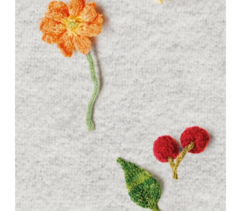 Snurk - dames jurk - knitted flowers