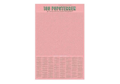 Stratier Stratier - xl spelposter - woordzoeker 100 popsterren