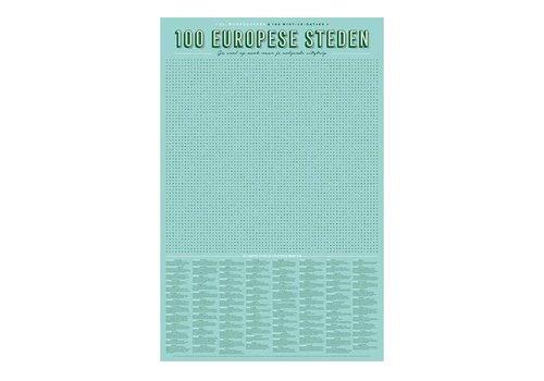 Stratier Stratier - xl spelposter - woordzoeker 100 europese steden