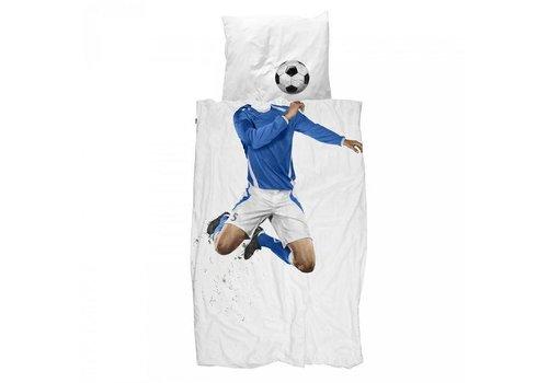 Snurk Snurk - dekbedovertrek - voetballer blauw