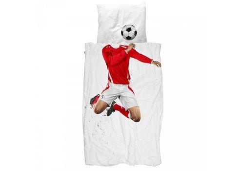 Snurk Snurk - dekbedovertrek - voetballer rood