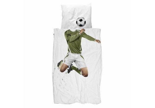 Snurk Snurk - dekbedovertrek - voetballer groen
