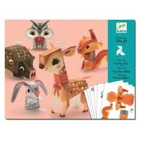Djeco - vouwpakket - bosdieren