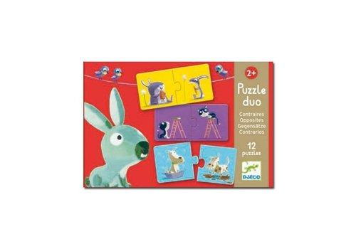 Djeco Djeco - duo puzzel – tegenovergestelde