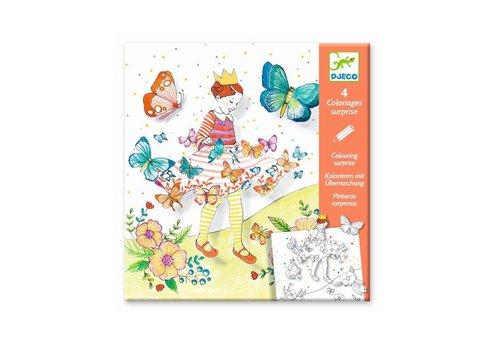 Djeco Djeco - kleurplaat met verrassing - lady butterfly