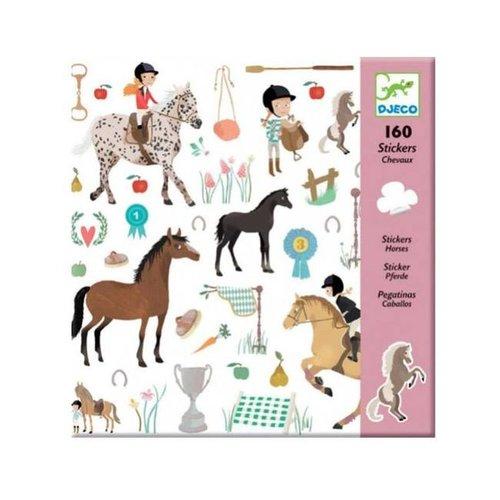 Djeco - stickers - paarden