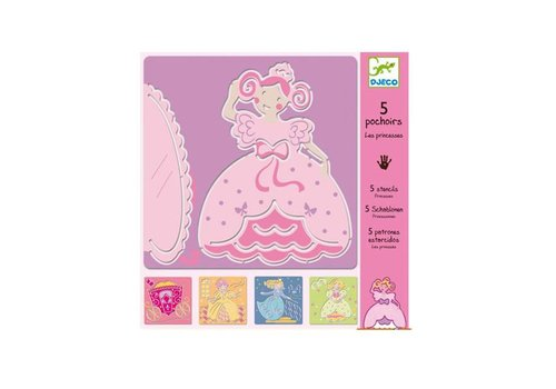 Djeco Djeco - sjablonen - prinsessen