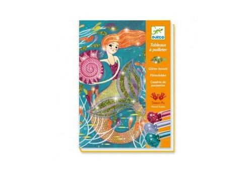Djeco Djeco - kleuren met glitter - zeemeerminnen