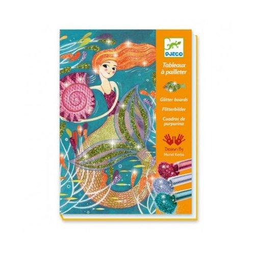 Djeco - kleuren met glitter - zeemeerminnen