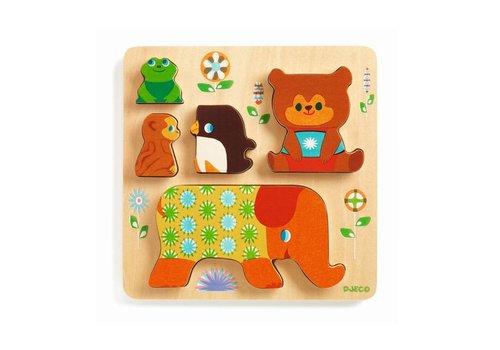 Djeco Djeco - houten puzzel - woodypile
