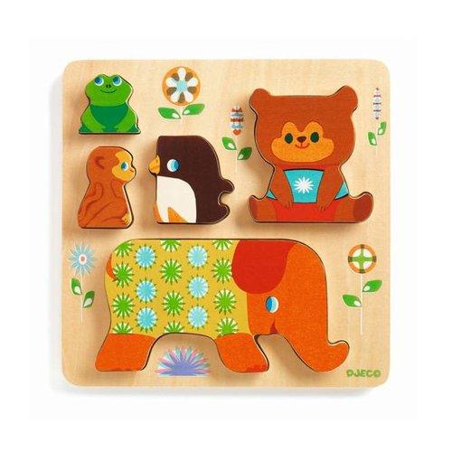 Djeco - houten puzzel - woodypile