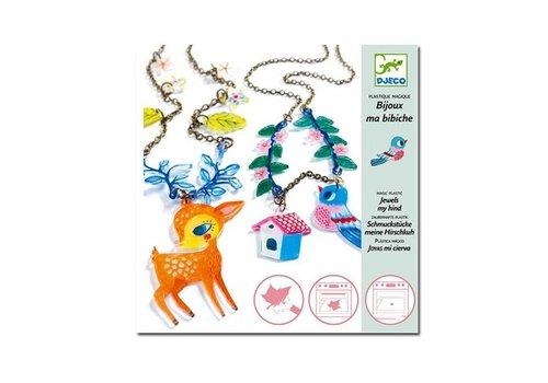 Djeco Djeco - magisch plastic sieraden - het hert en de vogel