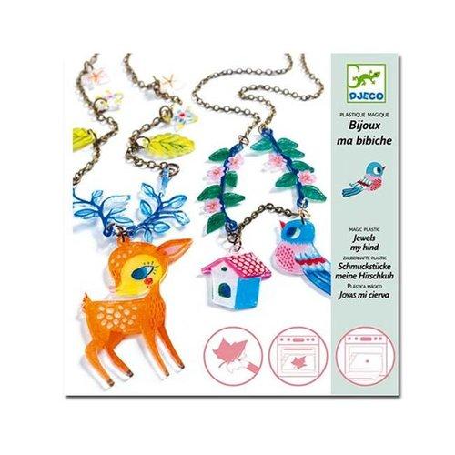 Djeco - magisch plastic sieraden - het hert en de vogel