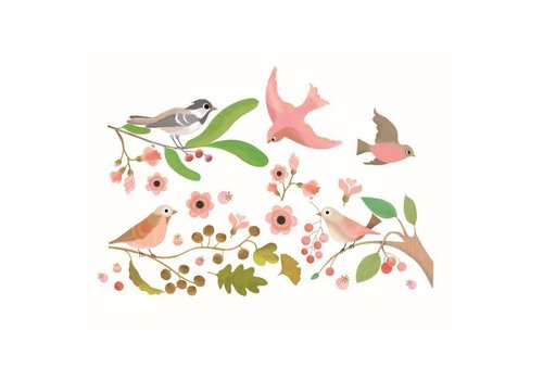 Djeco Djeco - raamstickers - vogels