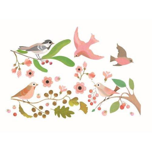 Djeco - raamstickers - vogels