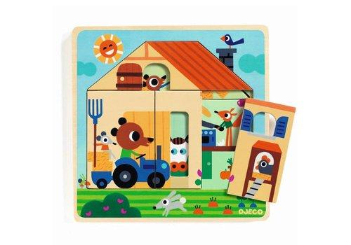 Djeco Djeco - houten puzzel - bij gaby