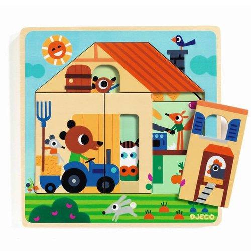 Djeco - houten puzzel - bij gaby