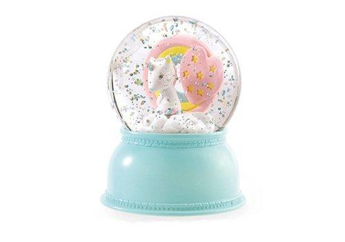 Djeco Djeco - nachtlampje sneeuwbol - unicorn