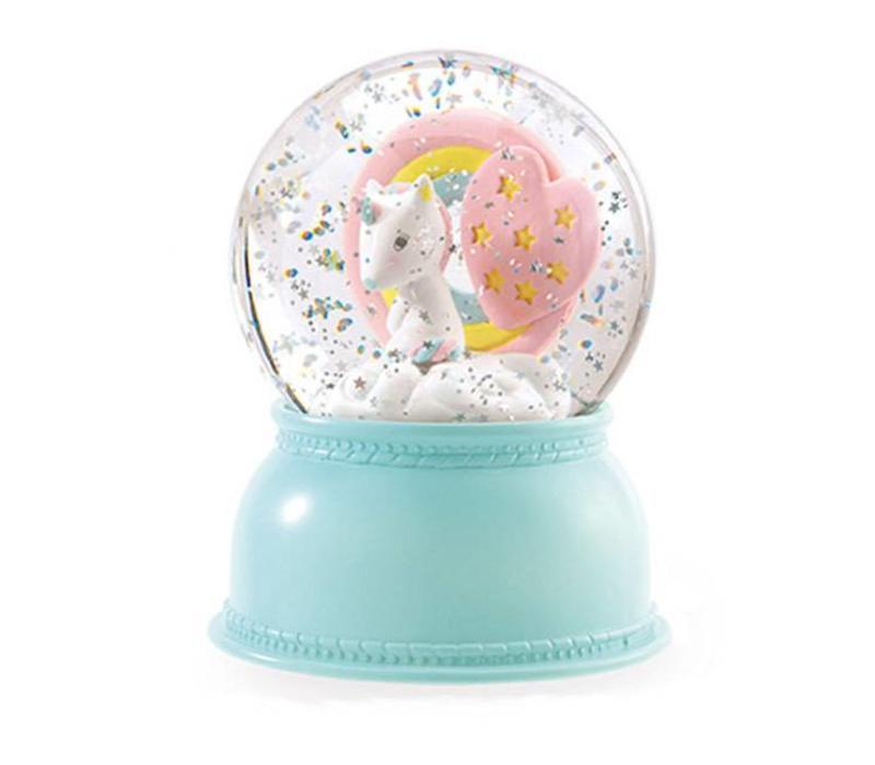 Djeco - nachtlampje sneeuwbol - unicorn