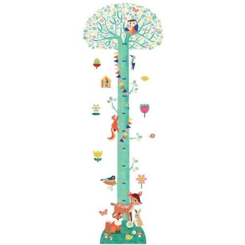 Djeco - muursticker groeimeter - boom in bloei