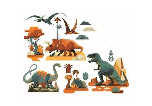 Djeco Djeco - raamstickers - dinosaurus