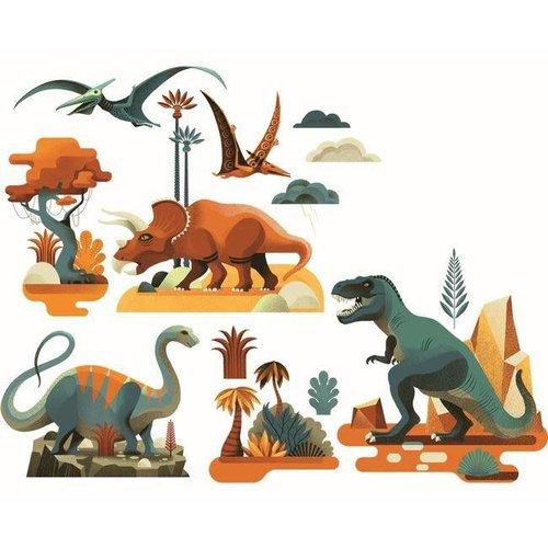Djeco - raamstickers - dinosaurus