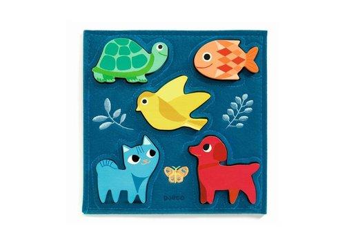 Djeco Djeco - houten puzzel - gataki