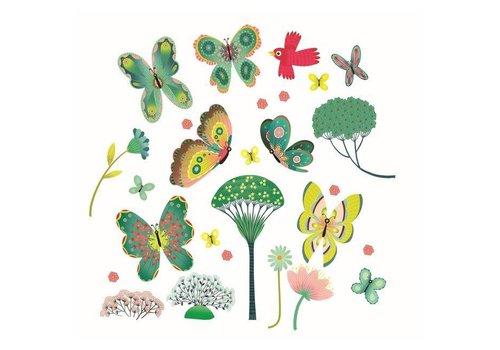Djeco Djeco - raamstickers - vlinders