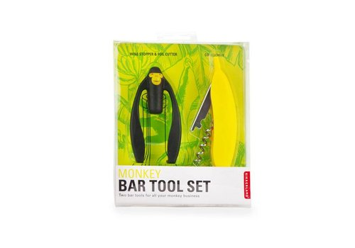 Kikkerland Kikkerland - bar tool set - monkey
