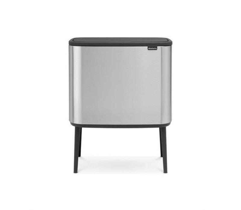 Brabantia - bo touch bin (3 x 11 l) - platinum