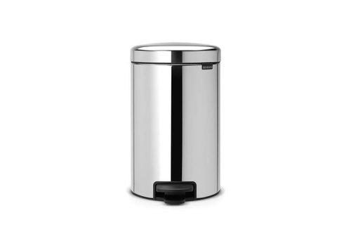 Brabantia Brabantia - pedaalemmer newicon (12 l) - brilliant steel (metalen binnenemmer)