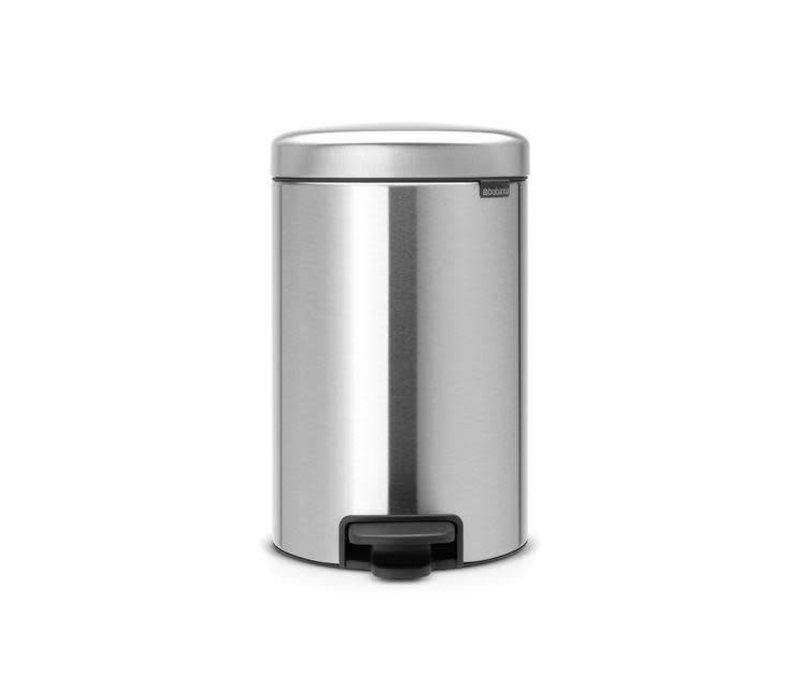 Pedaalemmer Brabantia 12 Liter.Brabantia Brabantia Pedaalemmer Newicon 12 L Matt Steel
